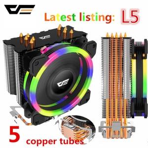 Image 1 - Aigo darkflash L5 radiateur TDP LED refroidisseur de processeur W dissipateur thermique silencieux, AMD Intel 285mm, ventilateur refroidissement de CPU, 4 broches