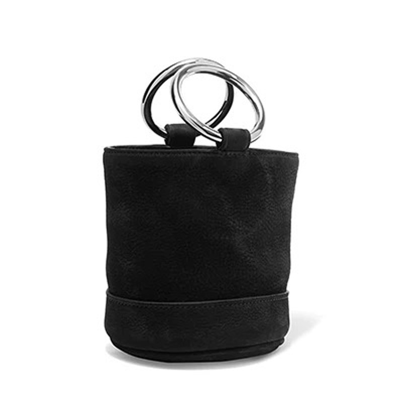 2017 Autumn Winter Vintage Women Bucket Bag Mini Genuine Leather Suede Pattern Ladies Shoulder Bag with Double Ring Handle Totes autumn and winter new ladies genuine