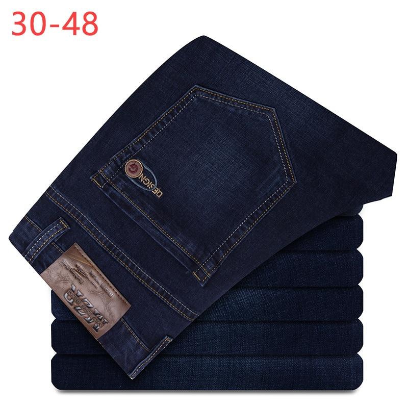 2018 Sommer Große Größe 30-48 Denim Jeans Männer Baggy Hosen Männlichen Jogger Hosen Klassische Plus Hose Business Casual Overalls Cqy07