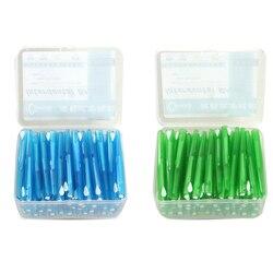 60 قطعة دفع سحب بين الأسنان فرشاة 0.7 مللي متر الأسنان خلة أسنان بين الأسنان منظفات تقويم الأسنان سلك مسواك فرشاة الأسنان العناية بالفم