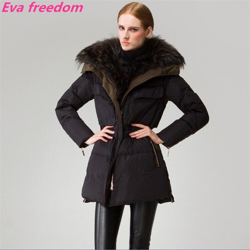 Manteau Noir De 2018 Long D'hiver Femmes Hiver Veste Couleur Bas Slim Vert Collier Raton Fourrure Le Laveur Vers Noir armée Charme ATaIfq