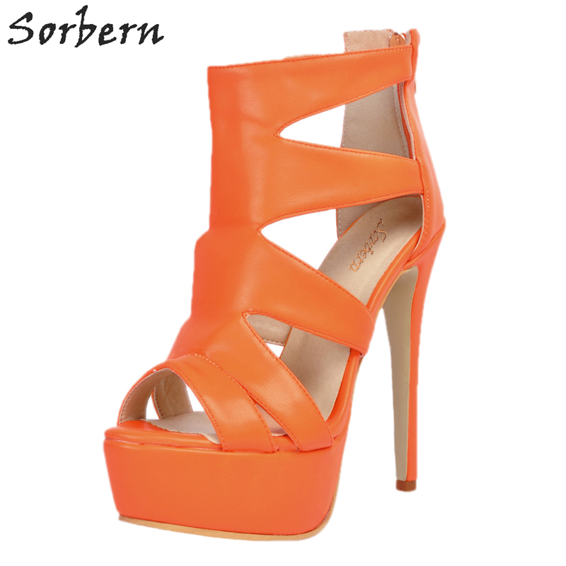 Sorbern Spike Heels Women Pumps Plus Size China Size 34-47 Pumps Women Shoes Luxury Shoes Women Designers PU Faux Suede pomidoro pcs 625003