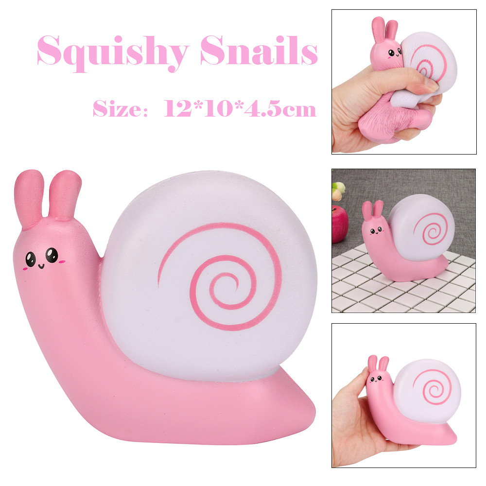 ISHOWTIENDA Squeeze Jumbo Stress Reliever Soft Snails Doll Scented Slow Rising Toys Gifts Stretchy Squeeze Toy Cream#25