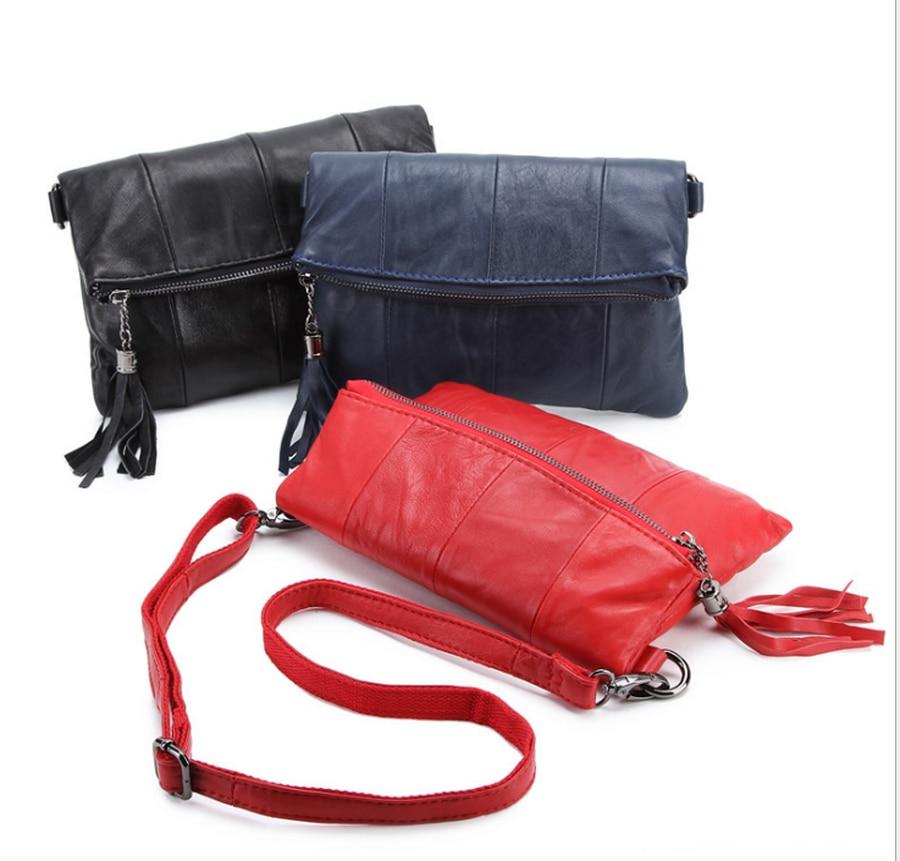 Leder Durch Umhängetasche blau rot Dhl 20 Patchwork Frauen Stücke Schwarzes Handtasche Mode Oder Ems 0W0rZqX