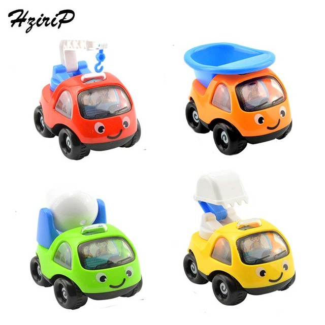 4pcsset mini model toy cars baby toys plastic cartoon engineering vehicles car kids favorite