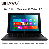 Планшетный ПК 4 Гб ОЗУ 64 Гб ПЗУ четырехъядерный Windows 10 Home 10,1 дюймов 1280*800 FHD ips Двойная камера HDMI 10,5 мм тонкий 2 в 1 планшеты
