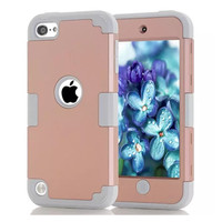LD New Funda Capa Case For Coque IPod Touch 5 Shockproof Hybrid Layer PC Silicone Combo