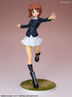 Hot wave pvc action figure 22 cm comic anime droom tech meisjes en panzer in nishizumi in meest panzer jacket