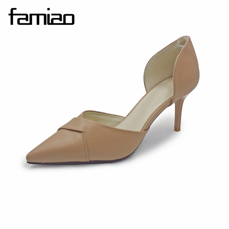 FAMIAO 2017 New  high heels women pumps thin heel classic white red nede beige sexy prom wedding shoes pointed toe zapatos mujer four stereo flap pocket multi button zipper epaulet design hooded long sleeves men s cool hoodie