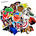 50 pcs Mixed stickers Toy styling funny sticker Motorcycle Bike Travel Doodle accessory cover detector decal sticker