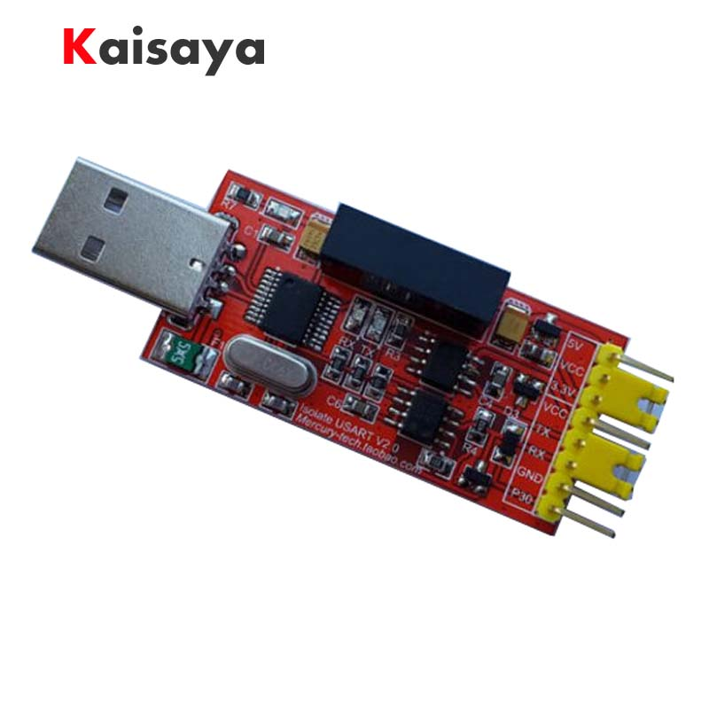 1pcs new 1500V 2Mbps USB to TTL CH340 STC RS232 high-speed serial Isolator module G2-014 cp2102 usb to ttl stc promini download module for arduino