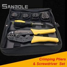 יד כלי סט שילוב פלייר ומברג עבור Crimping חיתוך הפשטת חוט חשמלאי יד כלים ערכת A30J