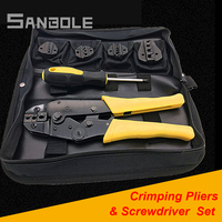 Hand Toll set Combination Pliers and Screwdriver For Crimping Cutting Stripping Wire Electrician Hand Tools Kit A30J