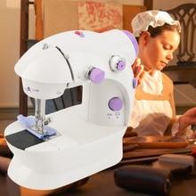 Многофункциональная электрическая мини-швейная машина бытовая настольная с светодиодный прочным передним задним прошиванием