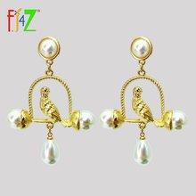Новые великолепные жемчужные серьги fj4z модный дизайн милые
