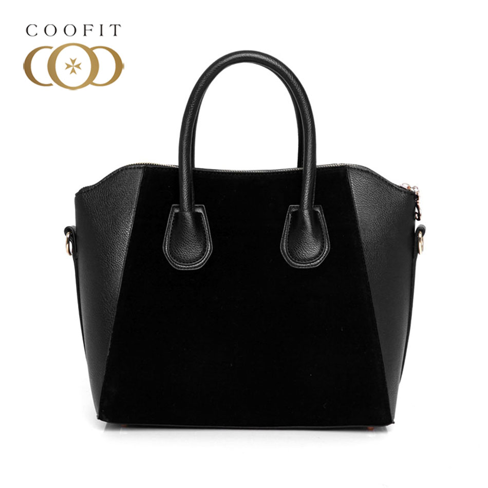 Coofit Simple Womens Handbag Fashionable PU Leather Shell Bag High Quality Large Capacity Crossbody Shoulder Bag For Office Lady 2016european high quality original hand drawn cartoon large capacity platinum package 34cm pu leather gold hardware graffiti bag