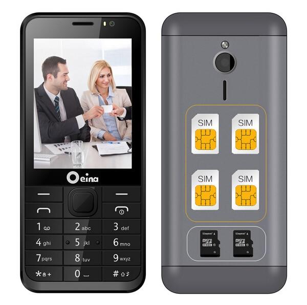 2017 OEINA 230 4SIM Elderly Phone With Quad Band Four SIM Card four standby Camera 2