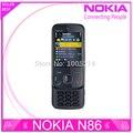 Reformado nokia n86 abierto original gsm 3g wifi gps 8mp teléfono móvil negro y blanco teclado ruso ayuda envío gratis
