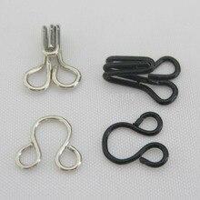 HK002 крючки для одежды 25 комплектов черный+ 25 комплектов серебряные металлические крючки для одежды аксессуары для одежды