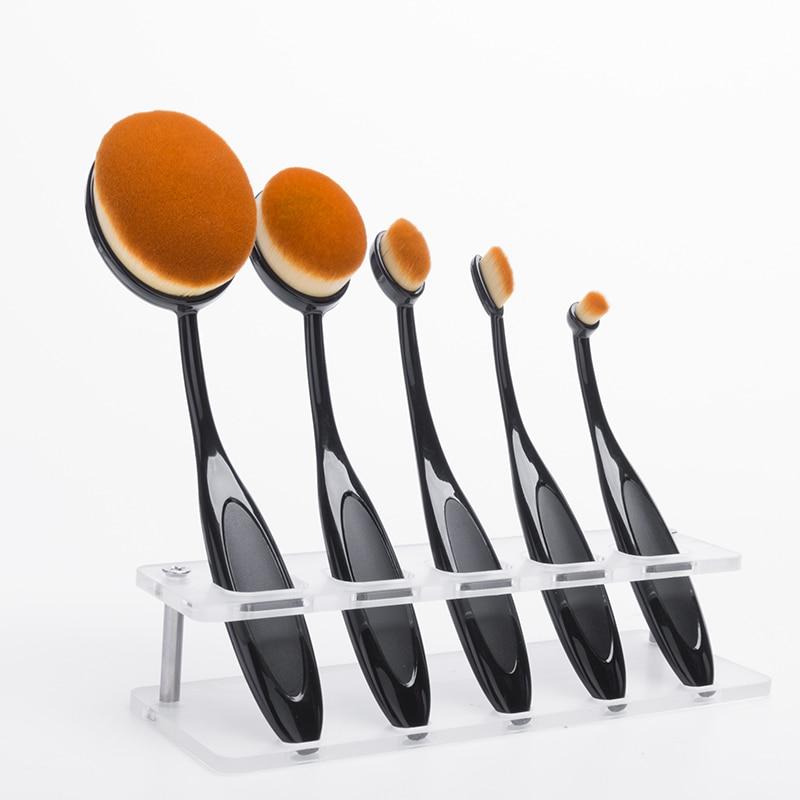 5 PCS/Set Pincel Oval Toothbrush Makeup Brush Set softy Professional Foundation Powder Eye Brush for Beauty Tool Make up Brushes