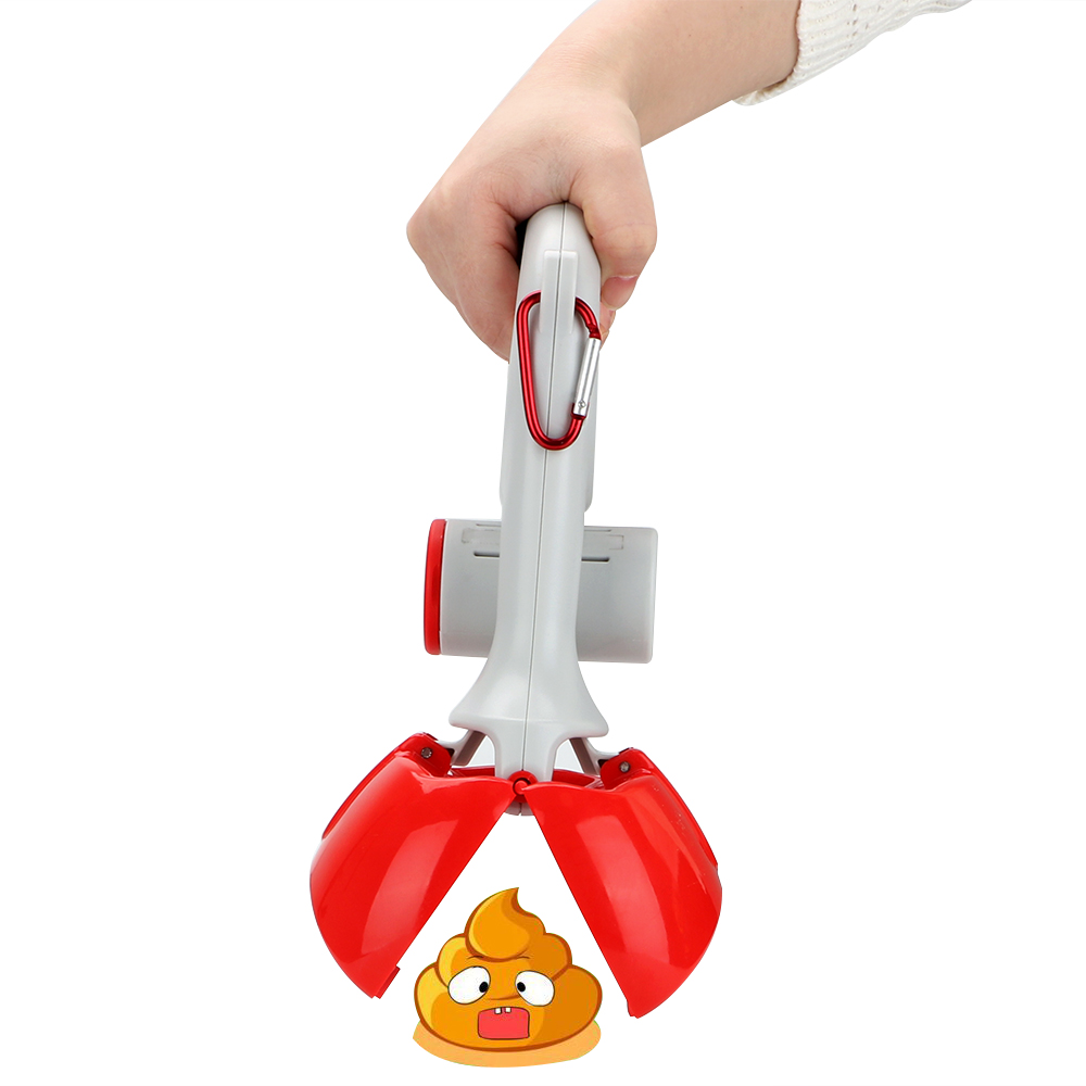NICEYARD 2 In 1 Pick Up Holder Outdoor Waste Cleaning Tools with 1 Roll Poop Bags Pet Pooper Scooper Pet Accessories 2