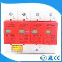 SPD 420V 60KA~100KA Large current House Surge Protector Protective Low voltage Arrester Device 3P+N