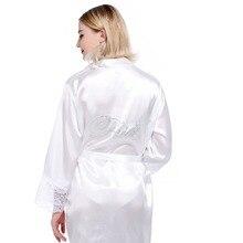 7a2be949f7 Robe Wedding Bride Women Sleepwear nightwear White Bridal Dress Bathrobe Night  dress Home Gown Sleepwear Nightgown