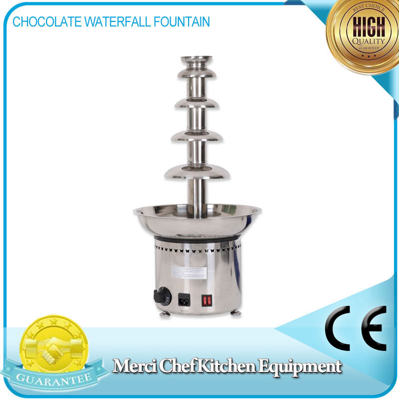 Large 5 Tiers Party Hotel Commercial Chocolate Waterfall Fountain  CE Certificate 110V/220V/240V