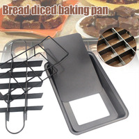 Brownie Baking Pan Divided Stainless Steel Tray 18 Cavities Slices Non Stick LBShipping