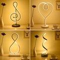 Thrisdar современный минималистичный арт-линия светодиодные настольные лампы с регулируемой яркостью прикроватная тумбочка для спальни насто...