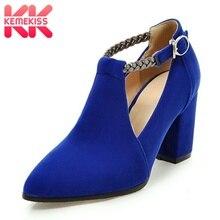 Купить с кэшбэком Kemekiss Women High Heel Shoes Pointed Toe Buckle Sexy New Shoes Women Fashion Braid Belt Dance Party Ladies Pumps Size 31-43