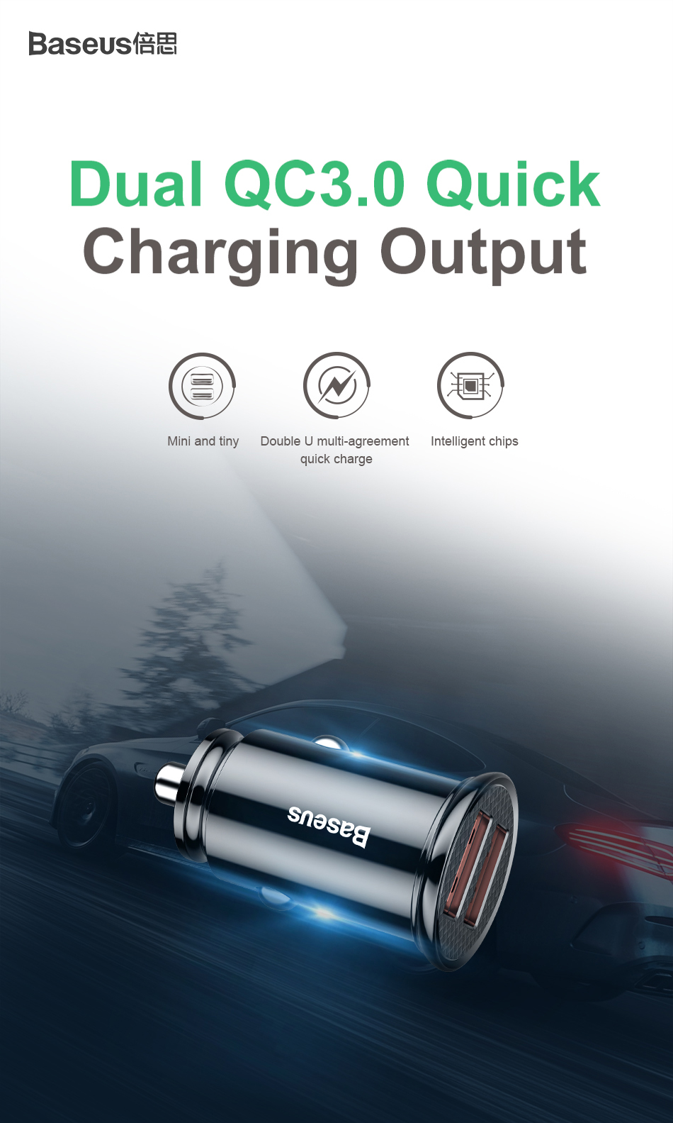 Baseus Quick Charge 4.0 3.0 USB Car Charger For Xiaomi mi 9 Huawei P30 Pro QC4.0 QC3.0 QC 5A Fast PD Car Charging Phone Charger-in Car Chargers from Cellphones & Telecommunications on Aliexpress.com | Alibaba Group 15