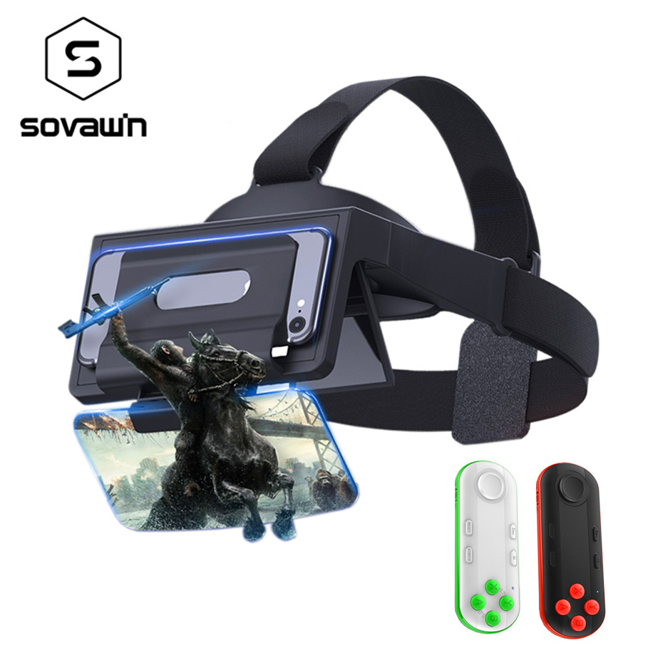 Sovawin AR Headset Box Glasses 3D Holographic Hologram Display Holographic Projector AR Augmented Reality glasses for Smartphone