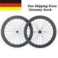 Ship From Germany 700C 50mm Clincher Ultra Light Carbon Wheels 23mm Width Powerway R13 Hub Racing Road Bike Wheelset