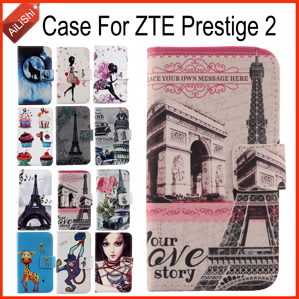 AiLiShi Case For ZTE Prestige 2 Luxury Flip Painted Leather Case Prestige 2 ZTE Exclusive 100% Special Phone Cover Skin+Tracking
