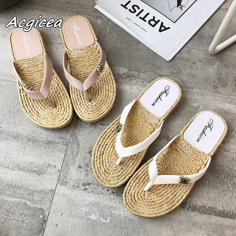 цены 2018 summer new Cool slippers female Korean fashion wear flat with flat students outdoor non-slip diamond flip flops f019