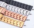 Promoção Cinta Faixa de Relógio de Aço Inoxidável Dos Homens do Metal do Ouro Bracelets18mm 20mm 22mm 24mm Alta Qualidade Horas de Substituição rosegold