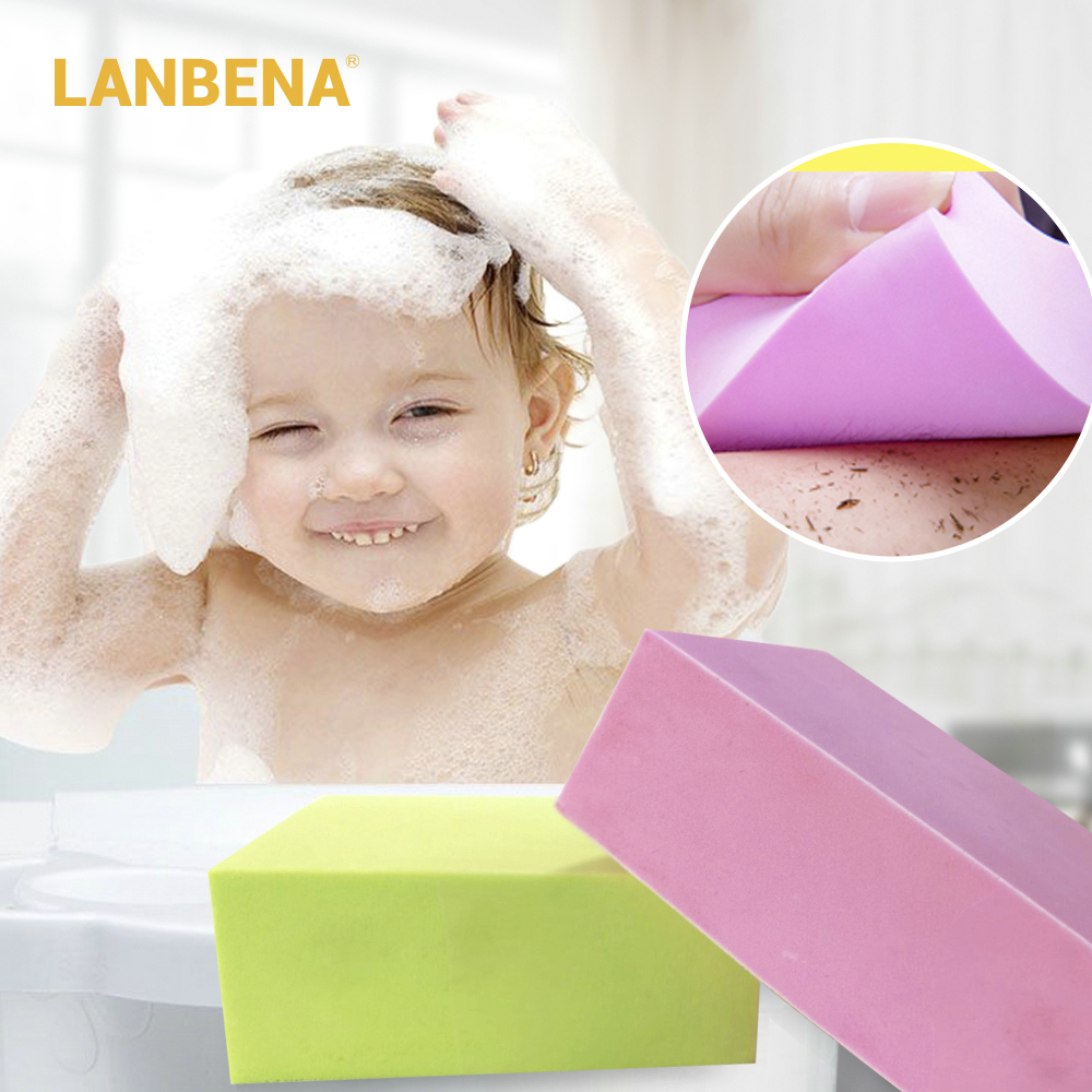 LANBENA Sponge Body Scrubber Shower Brush Exfoliating For Removing Dirt Cleaning Tool Ultra Soft For Baby