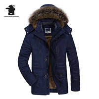 High Quality Brand Casual Cotton Lined Jacket Thickening New Fashion Winter Jacket Men Fleece Warm Coat