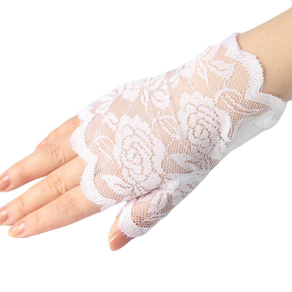 7a9828938 ... Newlty Women Lace Gloves Short Fingerless Vintage Adult Girls Lovely  Gloves high quality Great For Driving ...