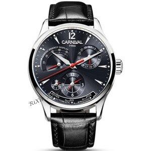 Image 5 - CARNAVAL Mode Mechanische Mannen Horloge Top merk Multifunctionele Automatische Horloges Mannen Kalender Waterdichte Lichtgevende reloj hombre