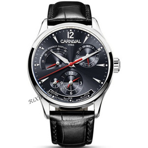 Image 5 - CARNIVAL reloj mecánico para hombre, automático, multifunción, calendario, resistente al agua, luminoso, masculino