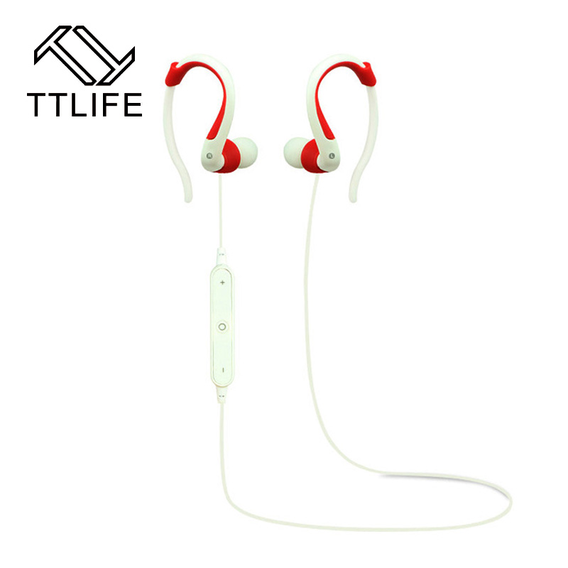 TTLIFE Ear Hook Bluetooth Earphone Wireless Headset Stereo Bass Running Headphone bluetooth with Mic For a Mobile Phone Xiaomi bluetooth headset 4 0 earphone voice control headphone v18 mic hd sound stereo wireless ear hook earphone for iphone 7 samsung