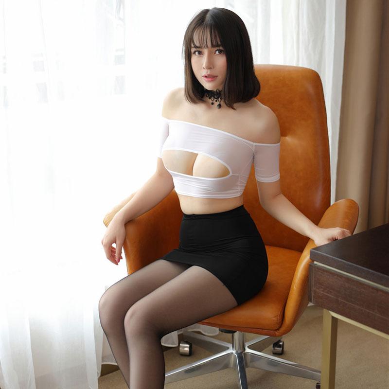 High Cut Tight Pencil Cute Skirt Ice Silk Smooth See Through Micro Mini Skirt Transparent Night Club Skirt Fantasy Erotic Wear