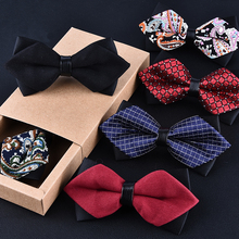 High grade newest butterfly knot men s accessories bow tie black red cravat formal commercial suit