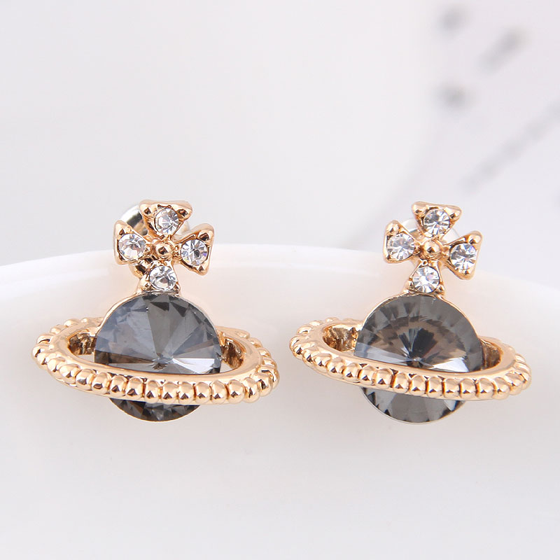 Small Gold Earrings Brincos Korean Style Cute Crytal Stud Earrings For Women Accessories