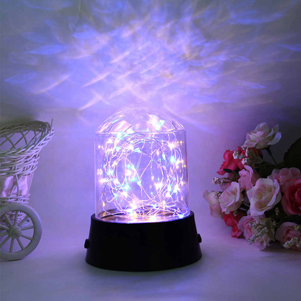 Moon Star Starry Projector Night Lamp LED Copper Wire String Children's Night Light for Home DecorBedroom Living Room Gift
