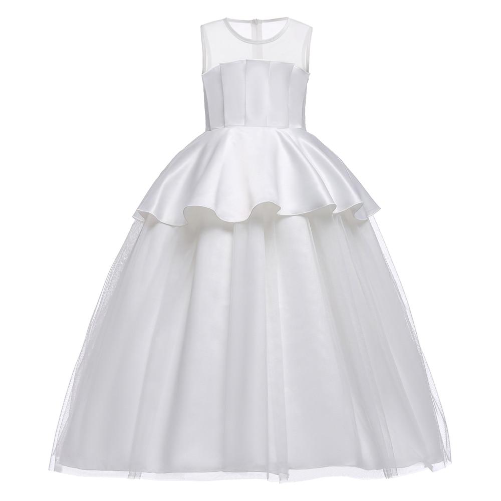 High-end 2018 New Summer Girls Vest Dress Fluffy Kids Dresses For Girls  Mesh Wedding 4bda3a13aa53