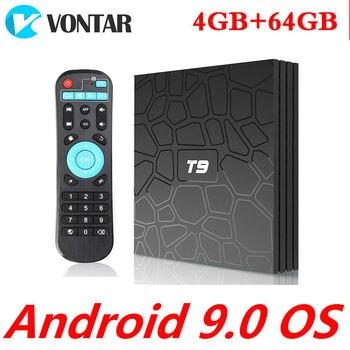 4 Гб ram 64 Гб Smart tv Box Android 9,0 T9 RK3328 четырехъядерный USB3.0 4 K телеприставка 2,4G/5G двойной wifi медиаплеер T9 Android 8,1