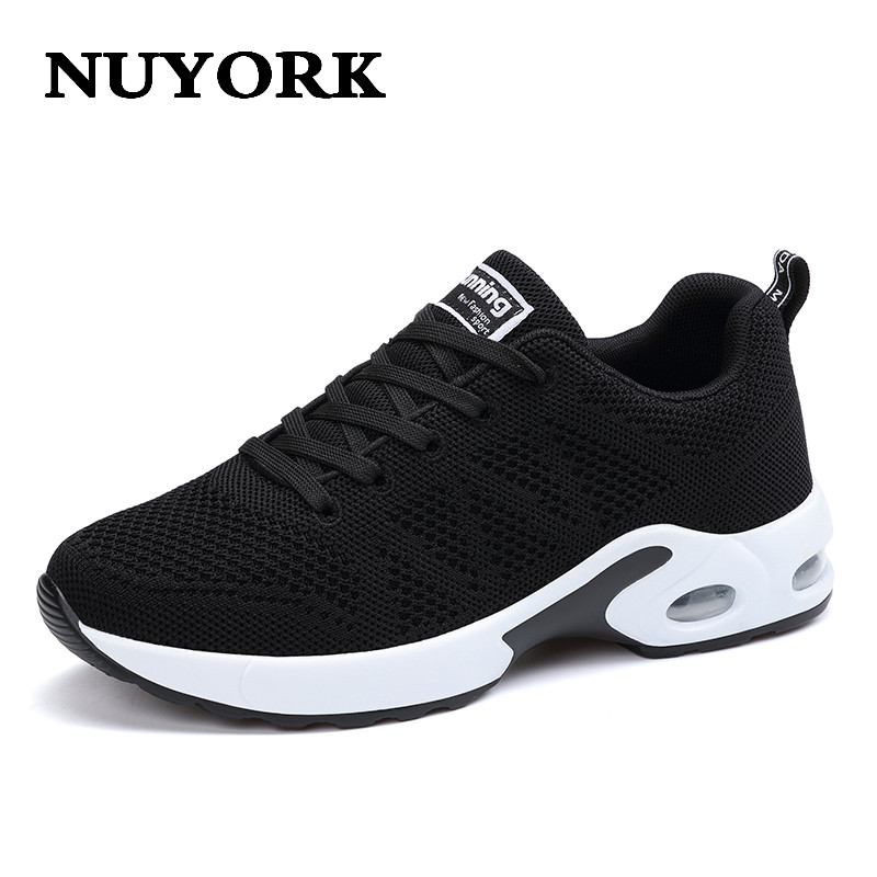NUYORK 2017 New Fashion Women Trainers Breathable Shoes Woman Leather Casual Tenis Feminino Sapato Women Flats Zapatillas Mujer hot sale new 2017 fashion flats women breathable sport woman shoes casual outdoor walking women flats zapatillas mujer